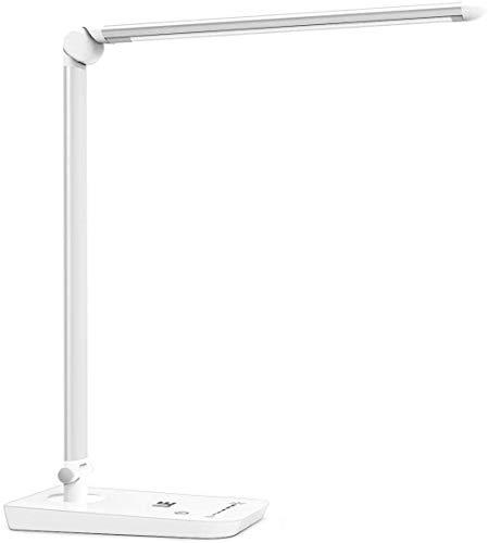 LE Schreibtischlampe LED Tageslichtlampe dimmbar und faltbar, weiß