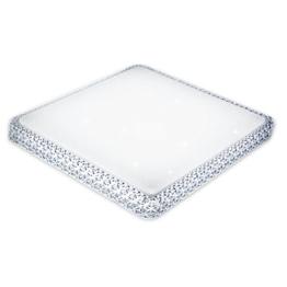 Viereckige weiße Tageslichtlampe Decke mit hohen Rändern.